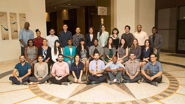 A group shot of the Neuroscience Scholars Program taken in 2016.