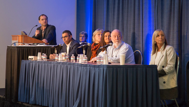 Panelists address the audience at the Neuroscience 2017 Professional Development Workshop, 'Careers in Translational Drug Discovery'