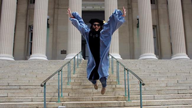 Nancy Padilla-Coreano on graduation day