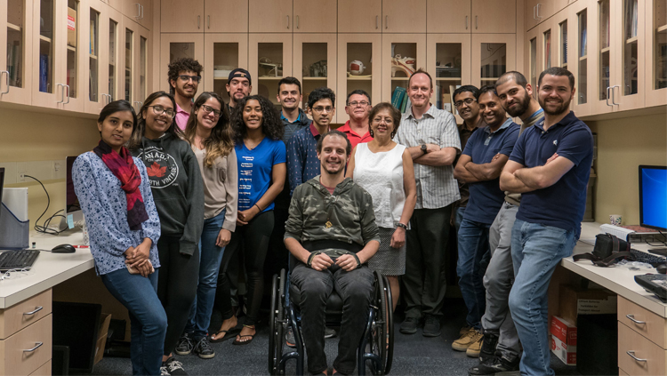 Several Adaptive Neural Systems (ANS) Laboratory members (not all are pictured). Courtesy of the Adaptive Neural Systems Laboratory, Florida International University.