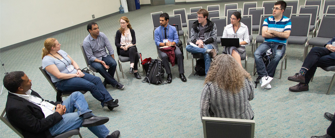 Small group discussion at Neuroscience 2018