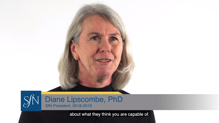 Diane Lipscombe sits in front of a white backdrop and shares advice for the next generation of women.