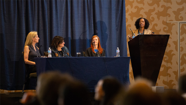 Panel at the Celebration of Women in Neuroscience event in 2018