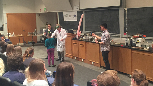 Chemistry magic show hosted by the Science Policy Club at Bringham Young University.