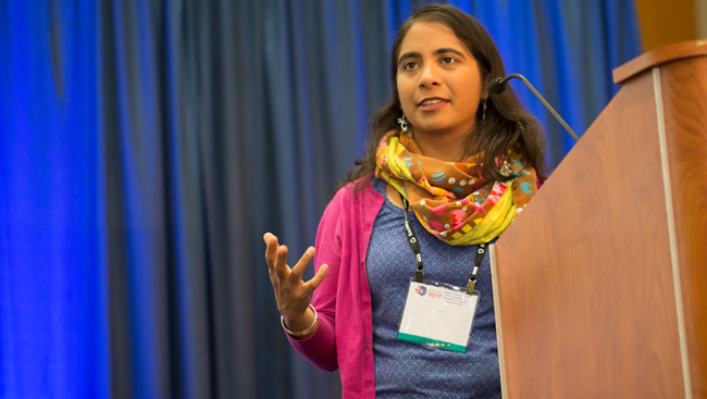 Jayatri Das at the Neuroscience 2017 Brain Awareness Event