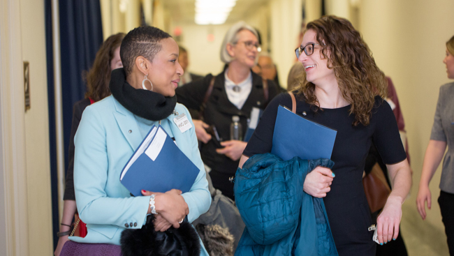 Volunteers attend SfN Hill Day 2018