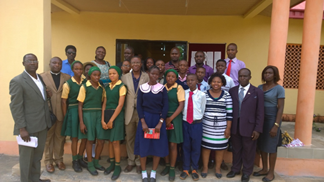 Championship contest of the International Brain Bee for secondary schools in Nigeria, held at the University of Medical Sciences, Ondo, in 2017.