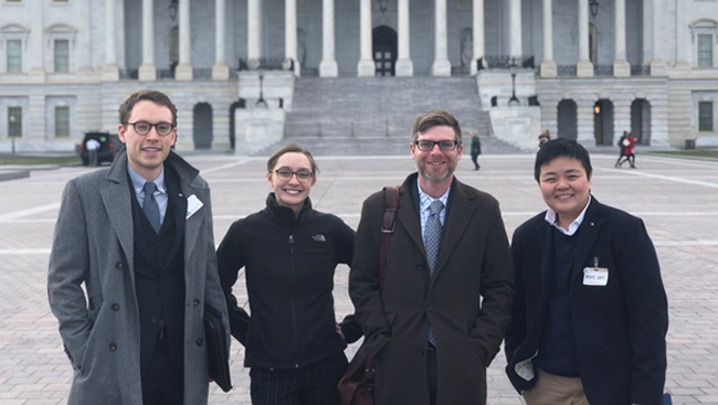 Photo of Joe Luchsinger and colleagues on Capitol Hill