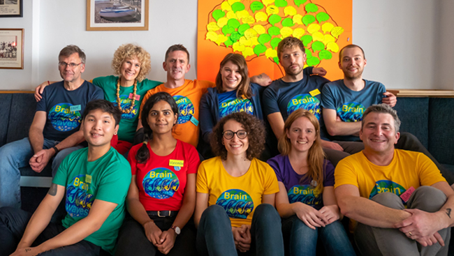 The Brainwaves team includes Darren Williams, Connor Sproston, Sinzi Pop, Tristan Varela, Vicky Rook, Christopher Rookyard, Rachel Moore, Vineetha Vijayakumar, and Jon Clarke, from King's College London.
