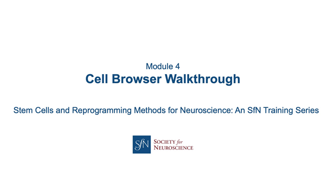 Title card for presentation, Cell Browser Walkthrough