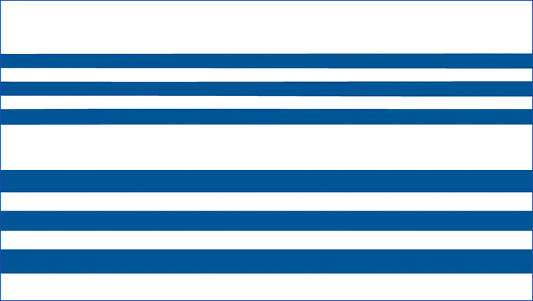 A white background with horizontal blue lines.