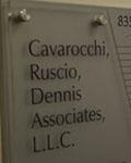 "Image of an office logo stating ""Cavarocchi, Ruscio, Dennis Associates LLC."""